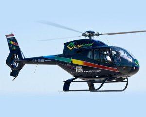 Trực thăng của LiteForex xuất hiện trên bầu trời Cộng Hoà SÉC