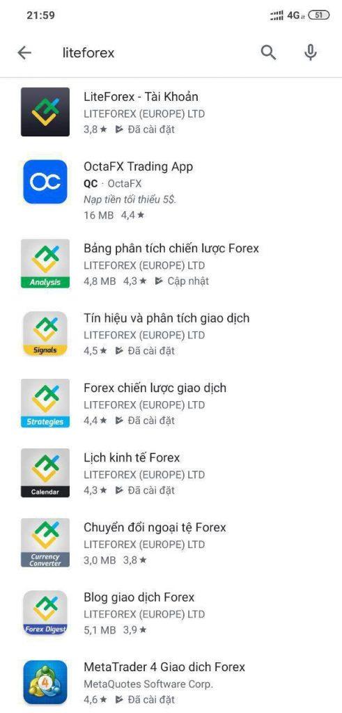 LiteForex là tập đoàn có nhiều app hỗ trợ nhà đầu tư nhất thế giới